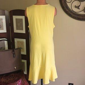 Boston Proper Dresses - New Boston Proper travel flutter yellow dress